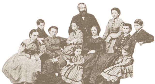 Familienfoto Friedrich Engelhorn, Friedrich-Engelhorn-Archiv, Mannheim