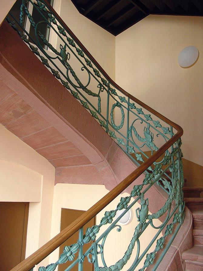 Restauriertes Treppengeländer in C4,6, Wohnhaus von Friedrich Engelhorn